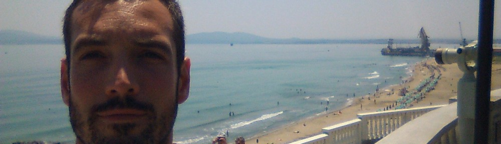 The beach in Burgas (I'm hiding the ice cream...!)